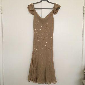 Caramely-tan Express dress